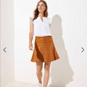NWT LOFT Faux Suede Flippy Skirt